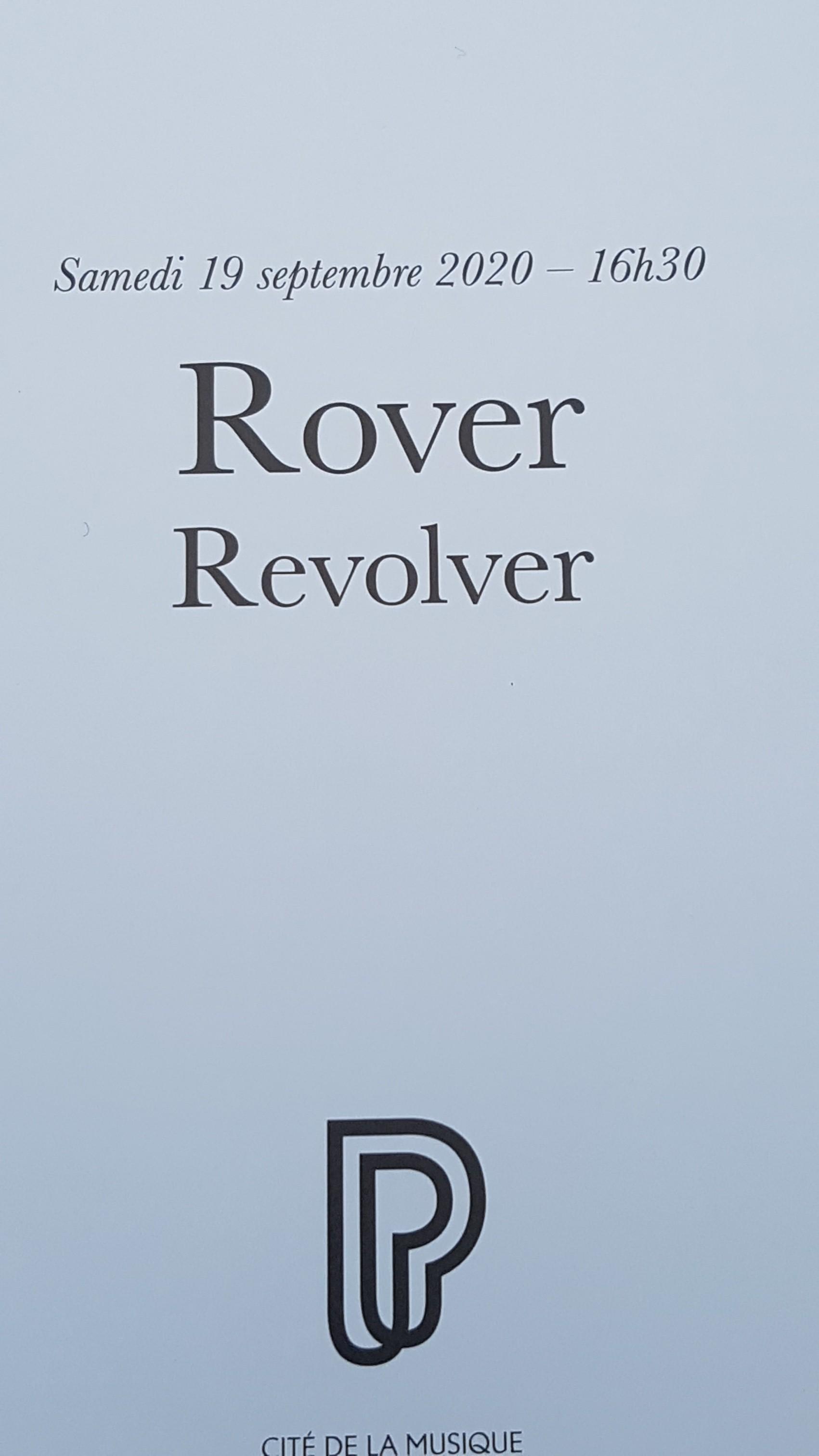 Rover/Revolver Cité de lamusique, Paris 19.09.2020