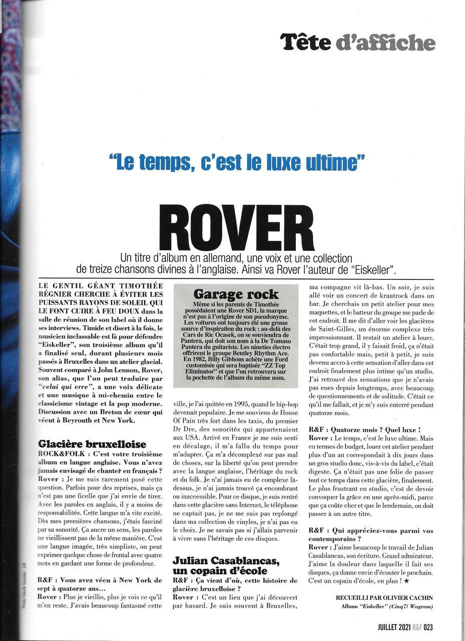 Rover rock n folk juillet 2021
